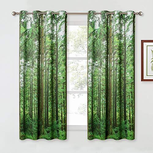 KGORGEest Tree Landscape Curtains