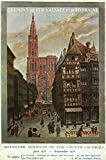 Strasbourg, France - View of Crowded Streets and Cathedral; Alsace and Lorraine Railways (12x18 Art Print, Wall Decor Travel Poster)