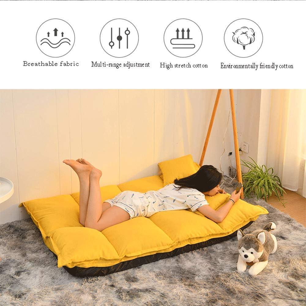 90GJ Lazy sofá Plegable apartamento Individual y pequeño Dormitorio pequeño sofá Cama Silla Plegable de Plata río Gris Plegable sofá Cama Gris