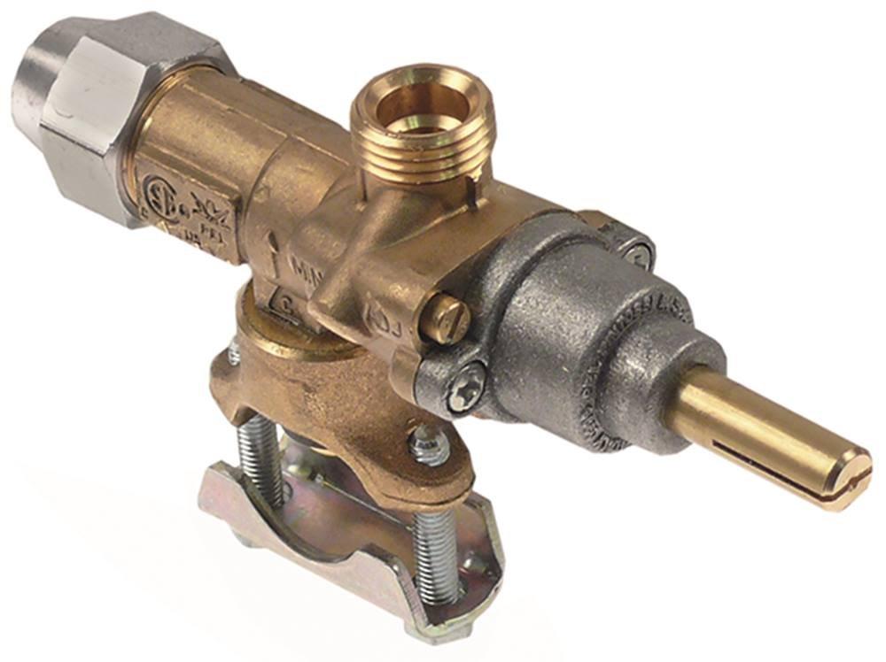 PEL20S - Conector para grifo de gas M9x1, entrada de gas, brida de tubo, diámetro de 21 mm, eje de 8 x 6,5 x 22 mm, eje inferior de 0,35 mm