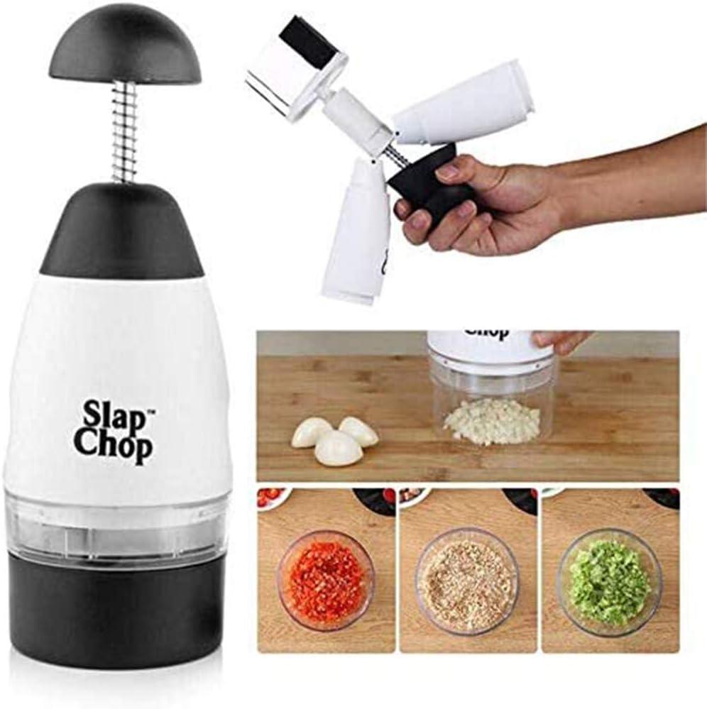 Kitchen Gadge Slap Chop Graty Coppa Singola Single Cup Garlic Press,Taglio per Tagliare Gli Alimenti Tritare Schiacciare Frutta Verdura