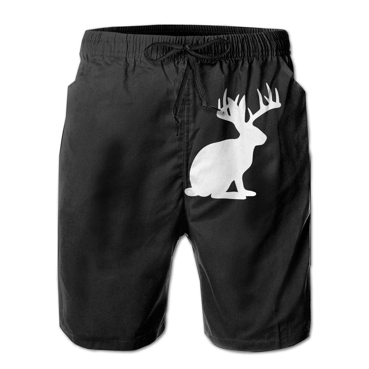 Casual Swimsuit with Pockets Yt92Pl@00 Mens 100/% Polyester Jackalopes Beachwear