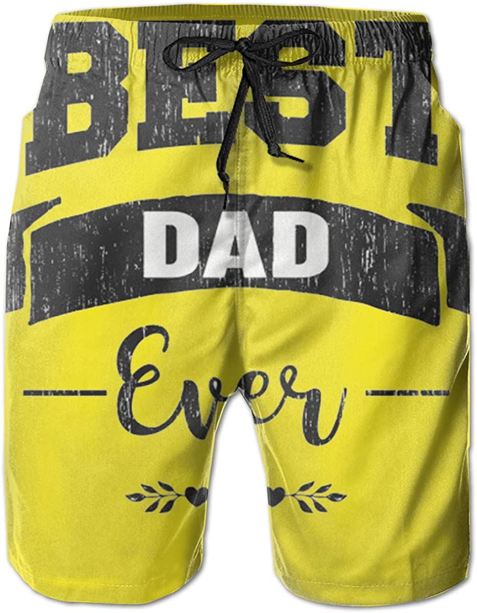 Reality And Ideals Best Dad Ever Mens Swim Trunks Board Shorts