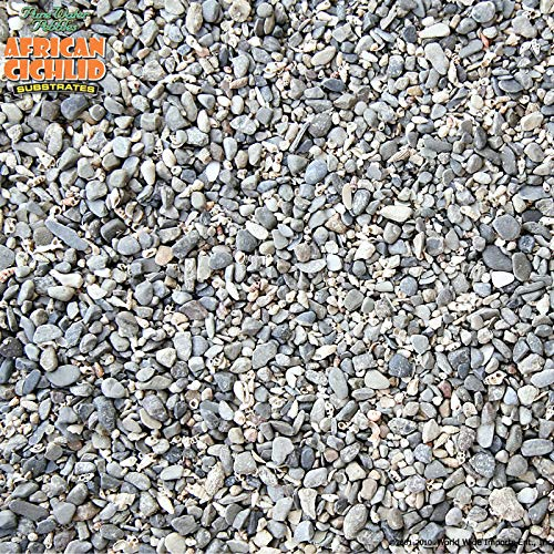 Pure Water Pebbles African Cichlid Substrate Rift Lake Mix 20 LB- Dry- Natural Substrate
