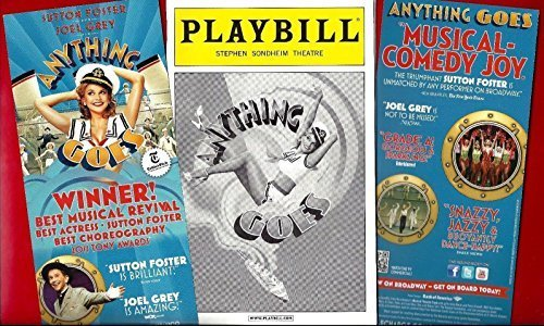 """Sutton Foster""""ANYTHING GOES"""" Joel Grey/Cole Porter 2011 Playbill/Flyer"""