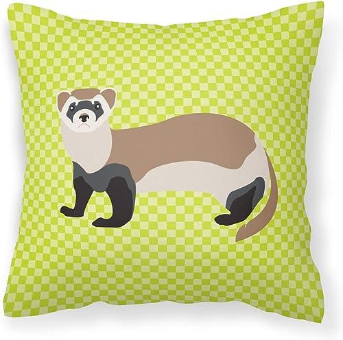 Caroline's Treasures BB7704PW1818 Ferret Green Fabric Decorative Pillow