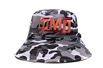 41fac9d60 XIYY EPMD Hip-Hop Band Logo Embroidery Camo Bucket Hat Hunting ...