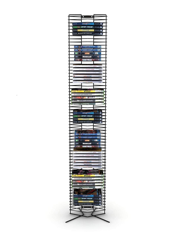 DK Furniture Wire CD-Tower - Holds 65 CDs in Matte Black Steel