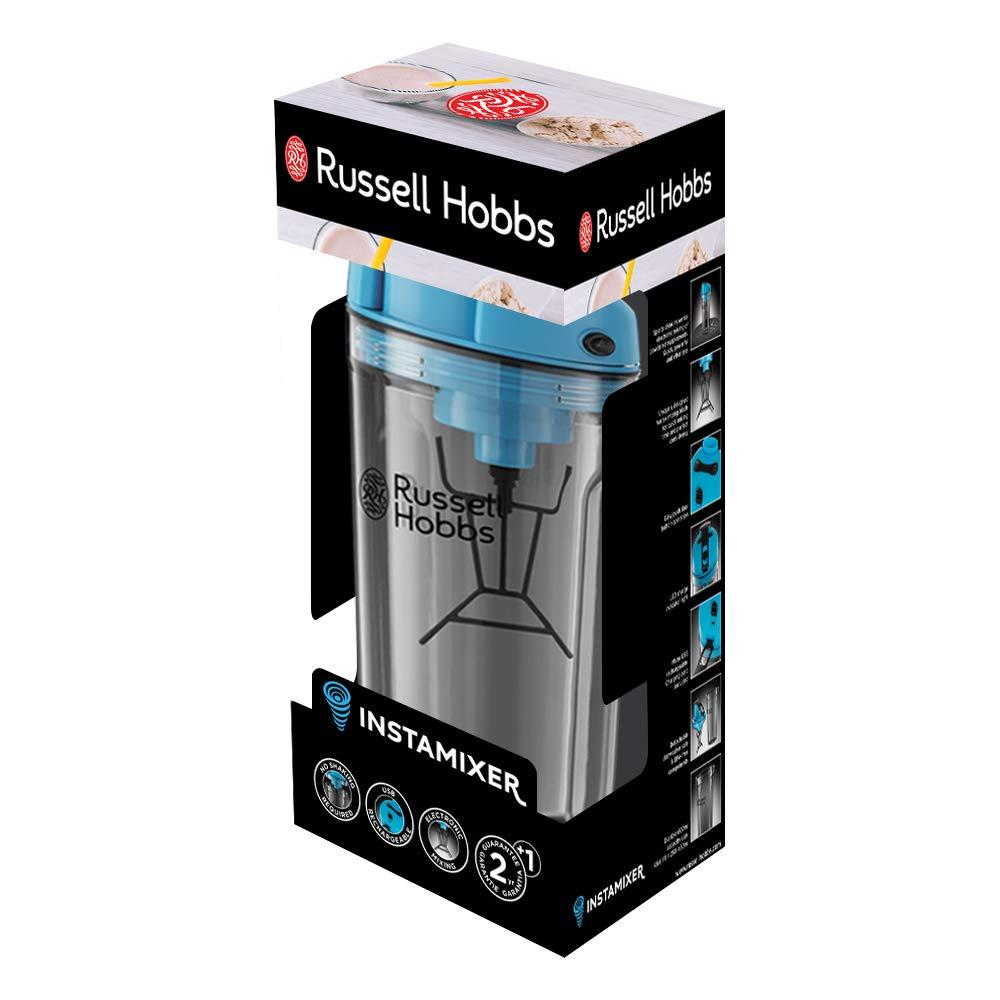 Russell Hobbs 24880-56 - Mezclador InstaMixer, 1,5W, vaso de 600l, 2 botones 1 sola velocidad, recargable con USB, indicador LED, bateria de iones de lítio ...