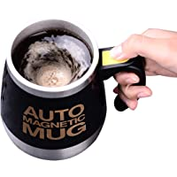TECHVIDA Auto Self Stirring Mug, Auto Self Mixing Cup Stainless Steel Self Stirring Mug Mixing Cup for Tea Milk Hot Chocolate 400ml