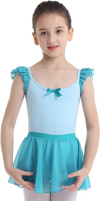 dPois Maillot de Danza Ballet para Niña (2-12 Años) Maillot con ...