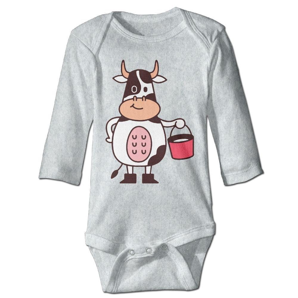 Cow and Milk Newborn Cotton Jumpsuit Romper Bodysuit Onesies Infant Boy Girl Clothes