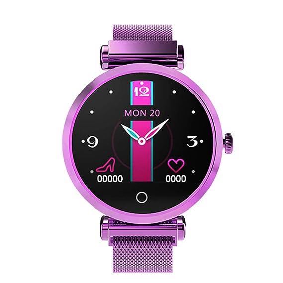CAOQAO Reloj Inteligente Mujer R6 Moda Mujer Reloj ...
