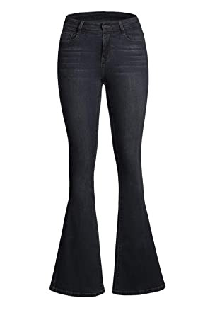 Dokotoo Womens Classic Flare Bell Bottom Denim Jeans Pants