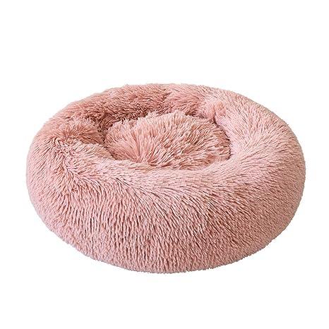 Galapara Cama para Mascotas Deluxe Plush Redonda de Pelo Nido de Donut con Cojín Perro Invierno Portátil Cálido Suave y cómodo Perrera Profundo para ...