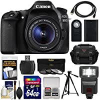 Canon EOS 80D Wi-Fi Digital SLR Camera & EF-S 18-55mm IS STM Lens with 64GB Card + Battery + Case + Flash + Tripod + 3 Filters + Kit Basic Facts Review Image