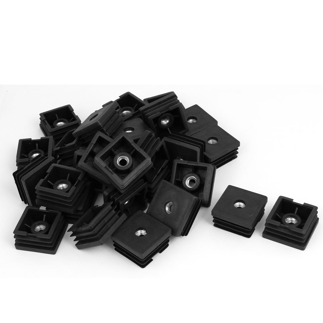 uxcell Furniture Table Chair 38mmx38mmx20mm Square Shaped Adjustable Leveling Feet 30pcs