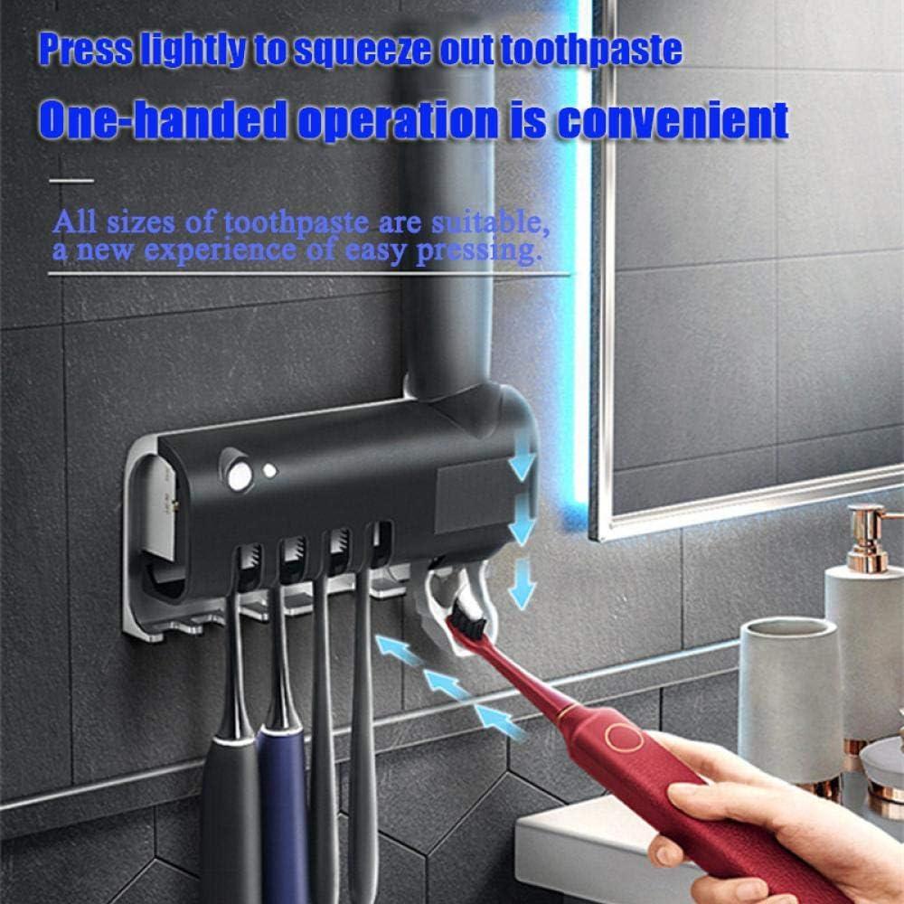 soporte de almacenamiento autom/ático para cepillos de dientes para ba/ño ni/ños esterilizador antibacterias UV montado en la pared Soporte para cepillo de dientes