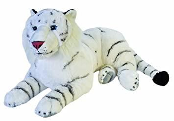 Amazon Com Wild Republic Jumbo White Tiger Plush Giant Stuffed