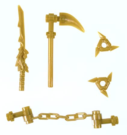 Amazoncom Lego Ninjago Gold Weapons Set Minifigures Toys Games