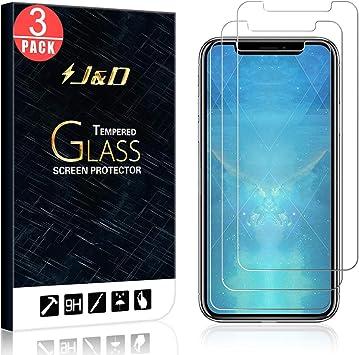 J&D Compatible para 3-Pack iPhone XR Protector de Pantalla, [Vidrio Templado] [NO Cobertura Completa] Cristal Templado Protector de Pantalla para Apple iPhone XR: Amazon.es: Electrónica