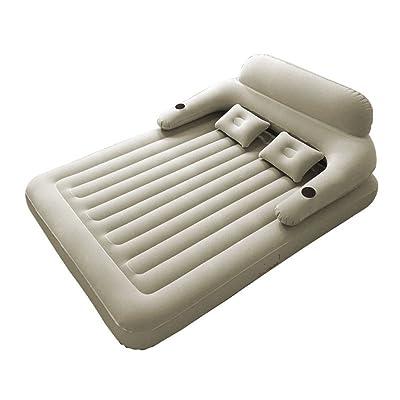 Lit gonflable de matelas d'air de ménage de matelas gonflable, lit d'air portatif extérieur Lit d'air de tente de camping, pompe gonflable électrique de maison et de voiture