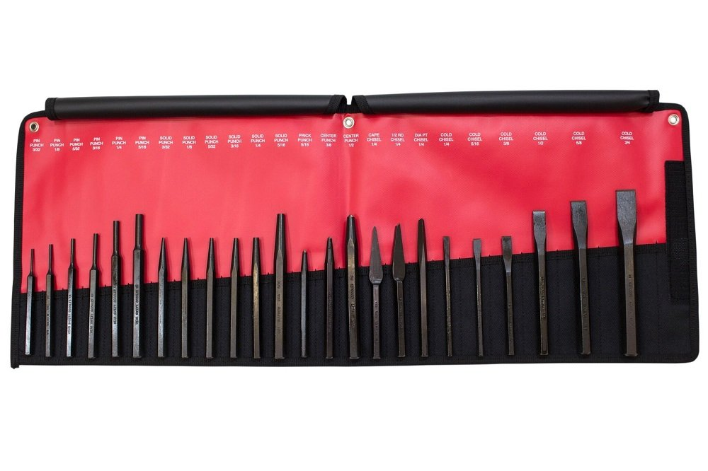 Mayhew Pro 61050 Punch and Chisel Kit, 24-Piece