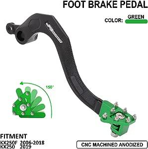 Outlaw Racing OR2436 Aluminum CNC Rear Brake Foot Pedal Lever Flex Tip Kit KX250F