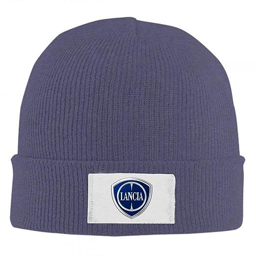 34c9ae7184e5 Knit Hat Lancia Emblem Beanie Hat Winter Warm Slouchy Skull Cap for Womens  Mens
