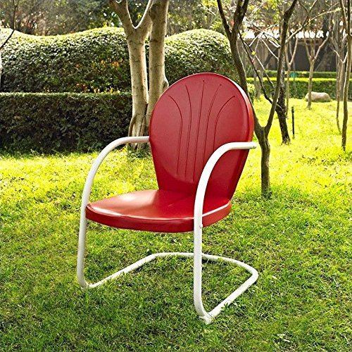 Crosley Furniture Griffith Metal Outdoor Chair   Red