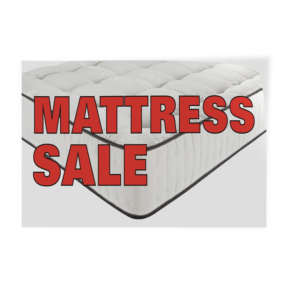 Decal Sticker Multiple Sizes Mattress Sale #1 Business air Mattress Outdoor Store Sign Red Set of 2 52inx34in