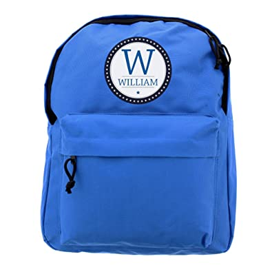 06a8492fef92 Personalised Childrens School Bag. Blue Backpack. Kids Boys Rucksack Childs  Name  Amazon.co.uk  Shoes   Bags