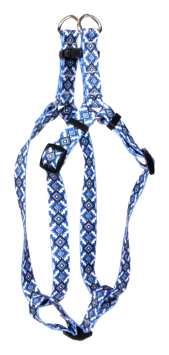 Yellow Dog Design Standard Step-In Harness, Aztec Blue, Medium 15'' - 25'' by Yellow Dog Design