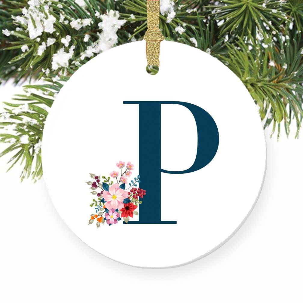 Amazon.com: P Ornament, Letter P Name \