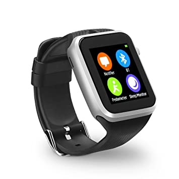 YUNTAB Reloj Inteligente GD19s Deporte SmartWatch Bluetooth 4.0, Llamada, cámara, sueño de vigilancia SMS de sincronización pedómetro para Android y ...