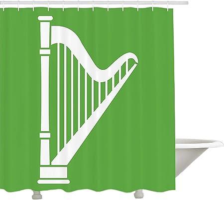 Yeuss Rideau de Douche Harp de,Instrument à Cordes Antique ...