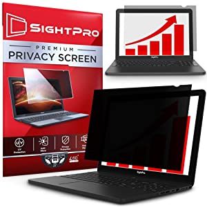 SightPro 15.6 Inch Laptop Privacy Screen Filter for 16:9 Widescreen Display - Computer Monitor Privacy and Anti-Glare Protector