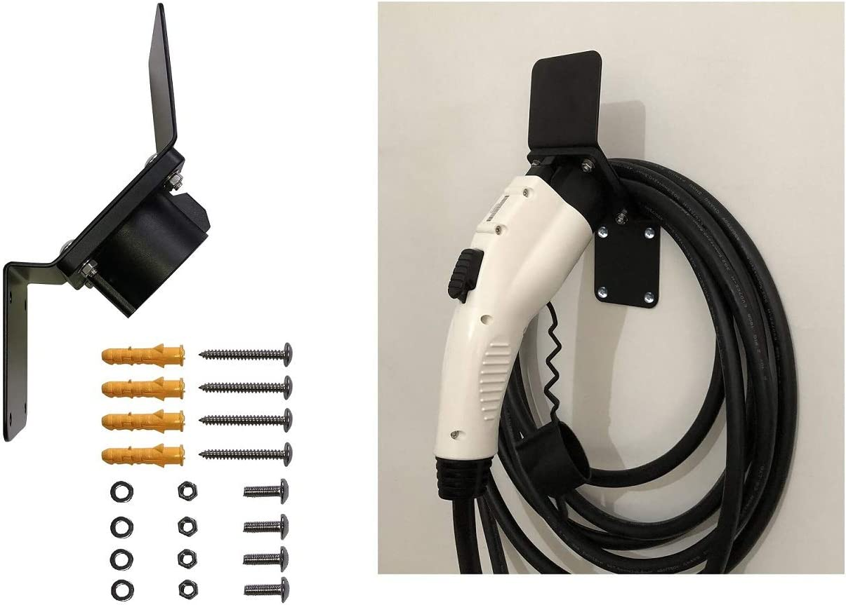 ONETAK EVSE EV PHEV Charger Plug Nozzle Dock for SAE J1772 Electric Vehicle with Cable Hook Screws