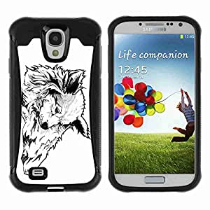 A-type Arte & diseño Anti-Slip Shockproof TPU Fundas Cover Cubre Case para Samsung Galaxy S4 IV (I9500 / I9505 / I9505G) / SGH-i337 ( Cool Tattoo Illustration )