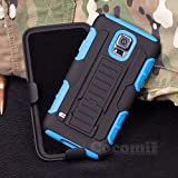 Galaxy S5 Active Case, Cocomii Robot Armor NEW [Heavy Duty] Premium Belt Clip Holster Kickstand Shockproof Hard Bumper Shell [Military Defender] Full Body Dual Layer Rugged Cover Samsung G870 (Blue)