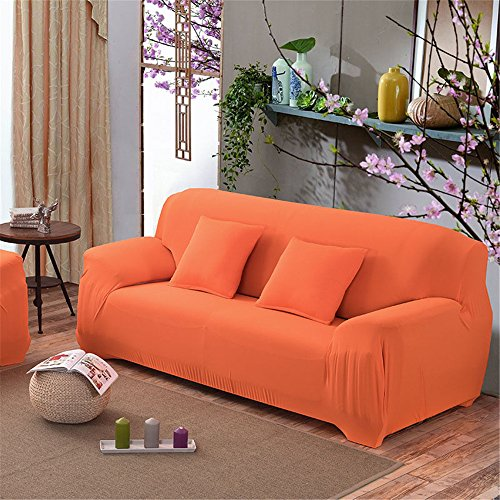 Elastic Sofa Solid Color Full cover Anti-skid 3 Seater Protector Couch Cover Armchair Slipcover Home Decor Stretch Sofa Cover Removable