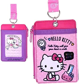 Cute Hello Kitty ID Holders Identity Badge Retractable Card Case Girl/'s Gift