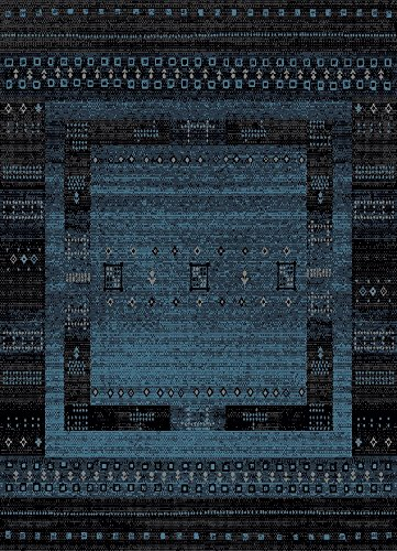 AREA RUGS - Anti-Bacterial Decorative Modern Contemporary Designs for Living Room Bedroom Kitchen Home Entrances - 63-inch-by-87-inch, Olefin FIBER, Frieze YARN - 5x7 (Kitchen Room Rugs)