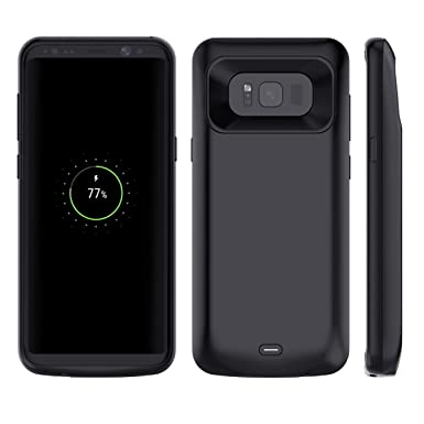 sale retailer ba1ff 80ed0 Galaxy S8 Battery Case, Moonmini Samsung Galaxy S8 Battery Charger Case  Ultra Slim 5000mAh Rechargeable External Backup Portable Charger Power Bank  ...