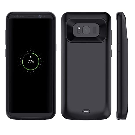 low priced 27574 b85c6 Amazon.com: Moonmini Samsung Galaxy S8 Battery Case, S8 Charger Case ...