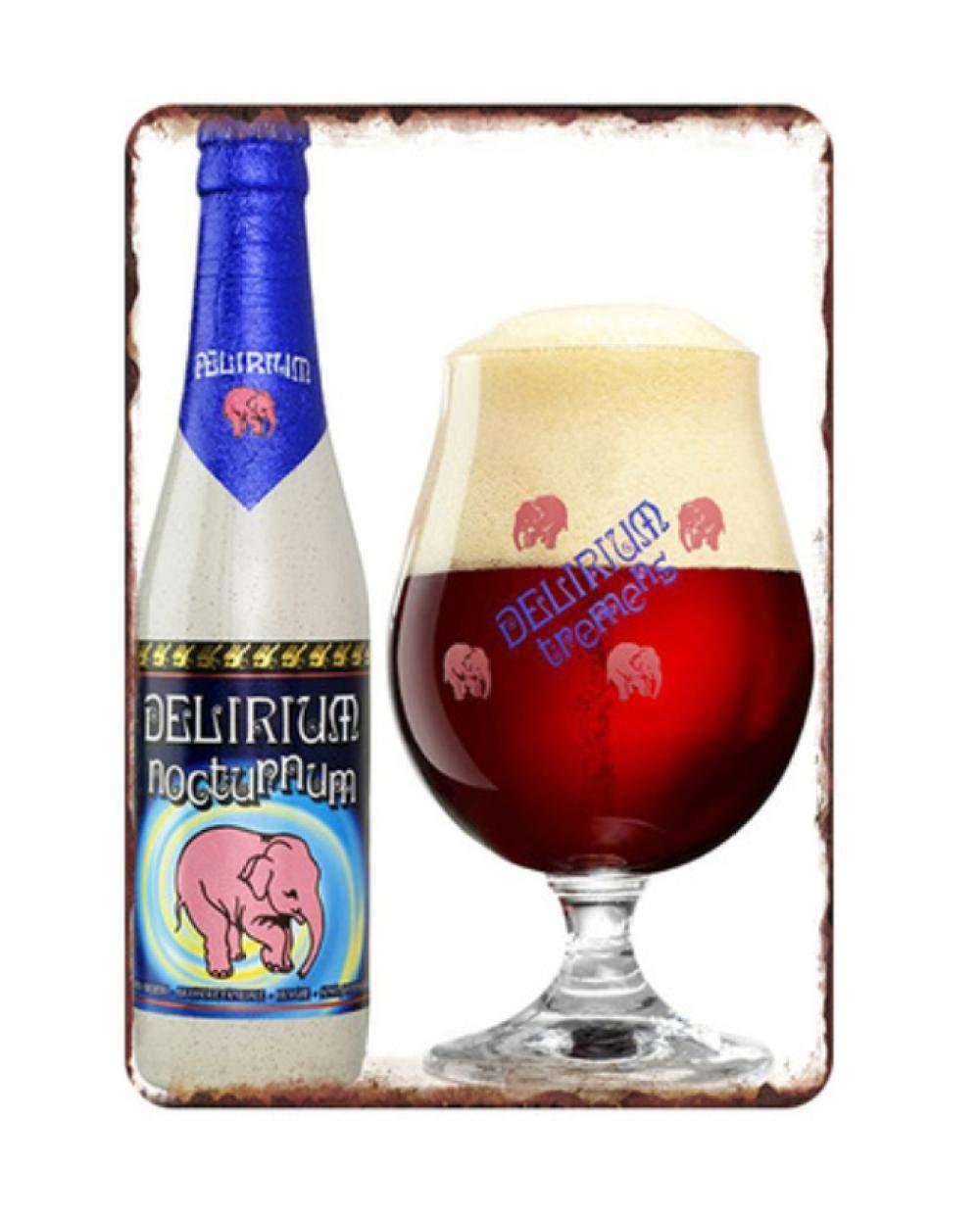 HMMY Cartel Metalicas Decoración 20 * 30 Cm Vino Cerveza ...