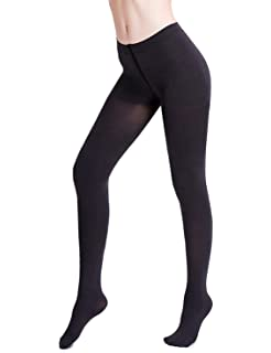 2b6de2a7c Lavender s Blue Women s Comfy Compression Pantyhose Quality Ladies Footed  Tight Black