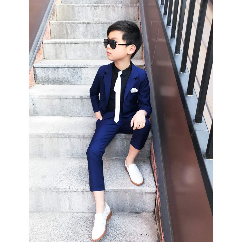 KINDOYO Boys Kids Blazer Suit Formal Page Boy Outfits Set Wedding Party Suit