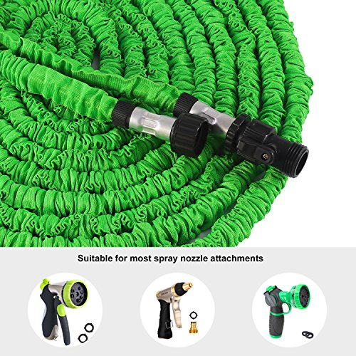 Waterpal Garden Hose 75ft Expandable Water Triple Layer Latex Core, Stamped Aluminum Joints & Extra Strength Fabric Car Wash Use, Green by Waterpal (Image #5)