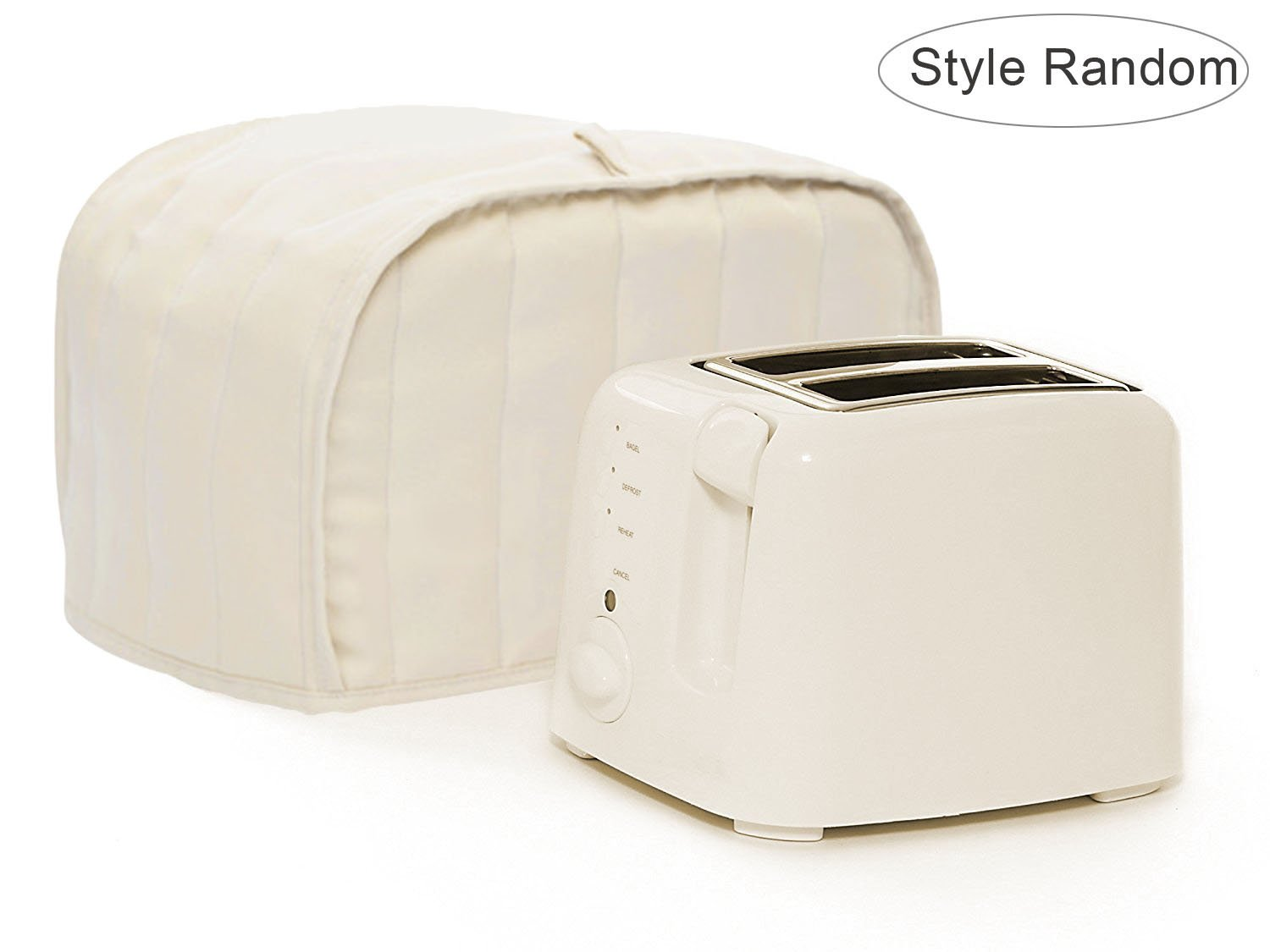 Toaster Dust Cover,Liangxiang Kitchen Toaster Cover Appliance 2 Slice 11W x 8D x 8H (Beige) - Style Random
